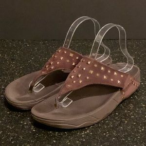 FitFlop Lulu Studded Sandals. Size 10 US